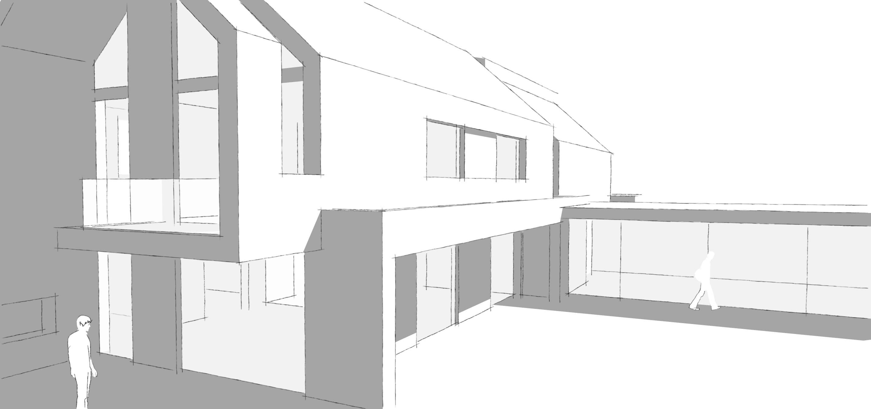 Stijlarchitectuur - Villa Klink - Hendrik-Ido-Ambacht - Schets - Detail