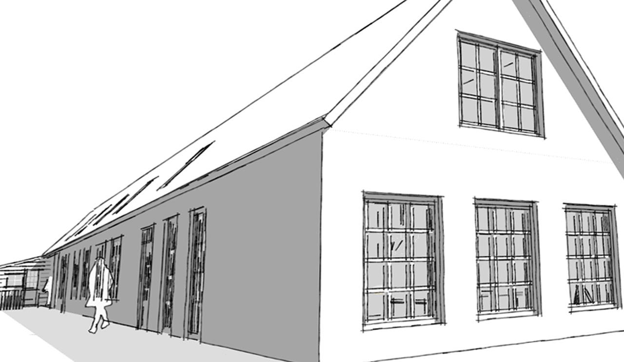 Stijlarchitectuur - Dubbelsteynlaan West - Exterieur tekening 3