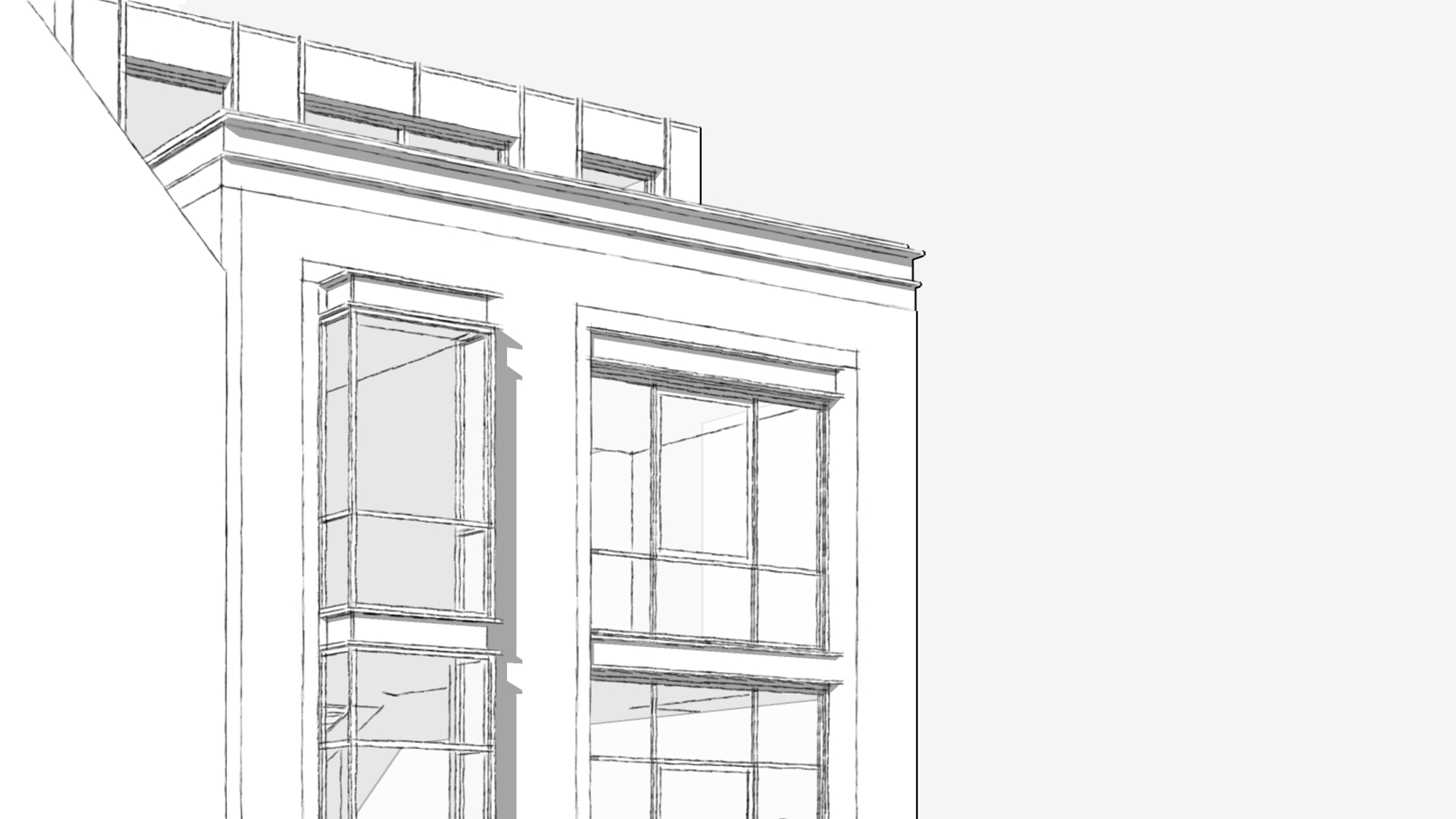 Stijlarchitectuur - Project Stadswerven - Detail tekening