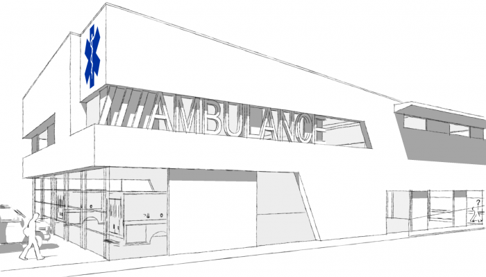 Ambulancepost - Papendrecht - Aanzicht 2